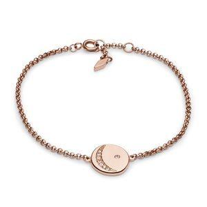 Fossil rose gold moon bracelet